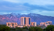 Intermountain Healthcare complex with mountains in the distance