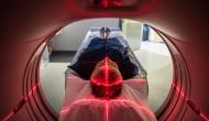Patient undergoing an MRI.