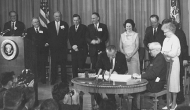 Pres. Johnson signing Medicare Bill, from Harry S. Truman Library