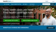 Screenshot of healthcare.gov