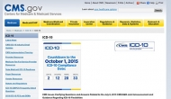 ICD 10 screenshot via CMS.gov