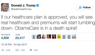 Tell us: How has Trump handled healthcare in his first 100 days?