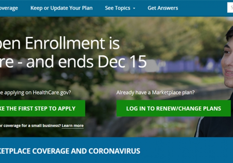 """Sign-on screen with the words: """"Open enrollment is here - and ends December 15"""""""